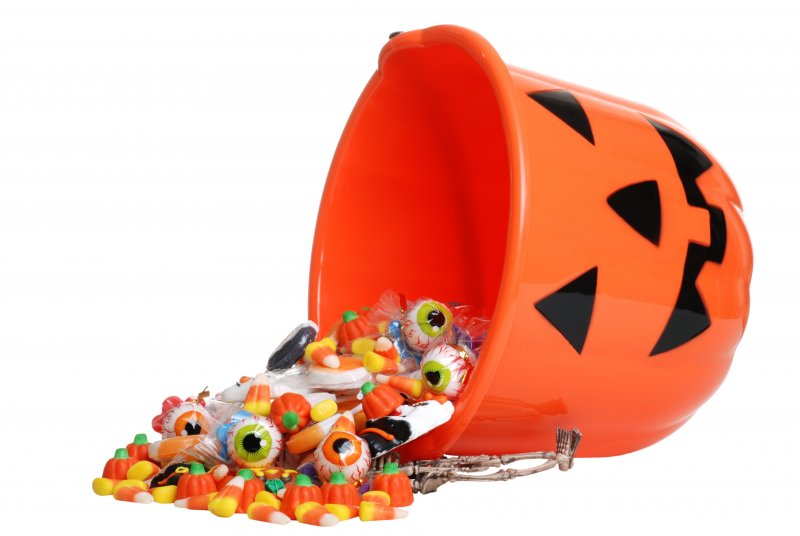 Halloween bucket of candy